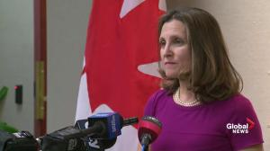 Freeland said seeking full, permanent tariff exclusion for Canada
